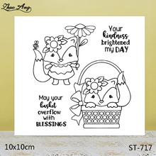 ZhuoAng Exotic Cute Fox Transparent Silicone Stamp / DIY Scrapbook Album Decoration Seal Seamless