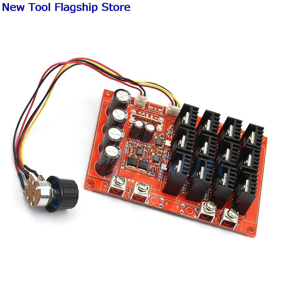 цена DC 10-50V 60A Motor Speed Control PWM HHO RC Controller 3000W MAX 12V 24V 48V