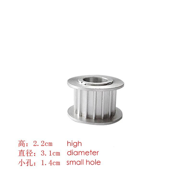 Pour TAJIMA ordinateur pièces de machine à broder FX poulie hauteur: 2.2 cm largeur: 3.1 cm petit trou diamètre 1.4 cm 2.0 cm cadre poulie