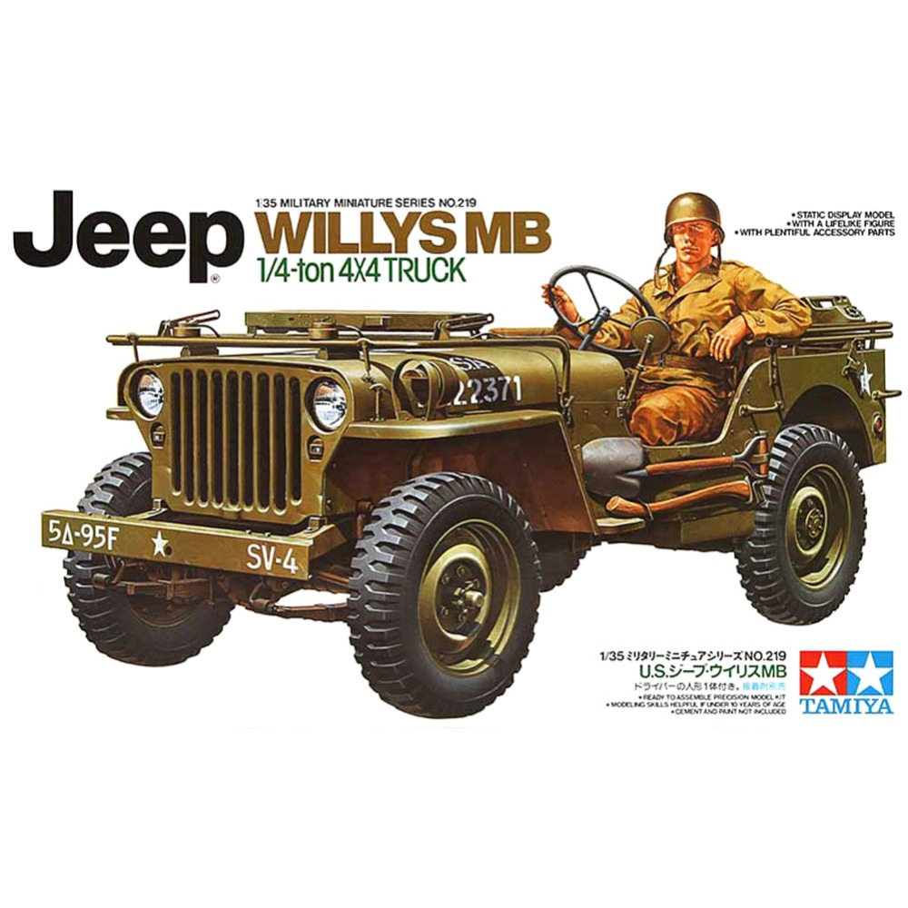 Jeep mb jeep : OHS Tamiya 35219 1/35 Willys MB Jeep 1/4 Ton 4x4 Truck Military ...