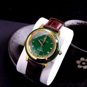 Лидер продаж, высококачественные мужские часы, украшенные драгоценными камнями подарочные часы для пары, античные нефритовые часы, мужские...