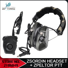 Z Tactical Pilot Headset Comtac TCI Liberator II Neckband Sordin Thoradin Pickup Noise Canceling Z111 FG Z112