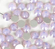 цена на Pink Opal Glass 3D Nail Art Decorations ss3 ss4 ss5 ss6 ss8 ss10 ss12 ss16 ss20 ss30 ss34 Crystal Nails Non HotFix Rhinestones
