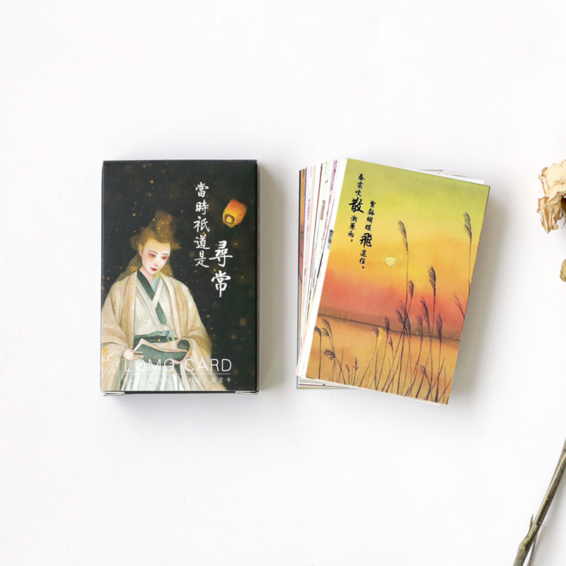 28 Sheets/Set Chinese Ancient Beauty Mini Lomo Greeting Card Postcard/Wish Card/Christmas And New Year Gifts