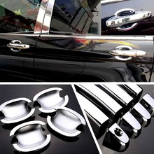 цена на High-quality For Honda CRV 2007-2011 ABS Car Styling Chrome Side Door Handle Cover and Door Bowl Cover