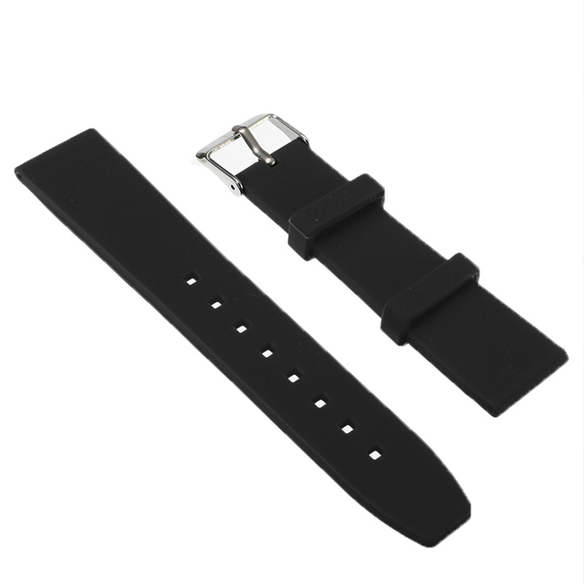 16/18/20/22/24/26/28mm Multi Color Watchbands Watch Strap Rubber Silicone Watchband With Stainless Steel Buckle | Watchbands