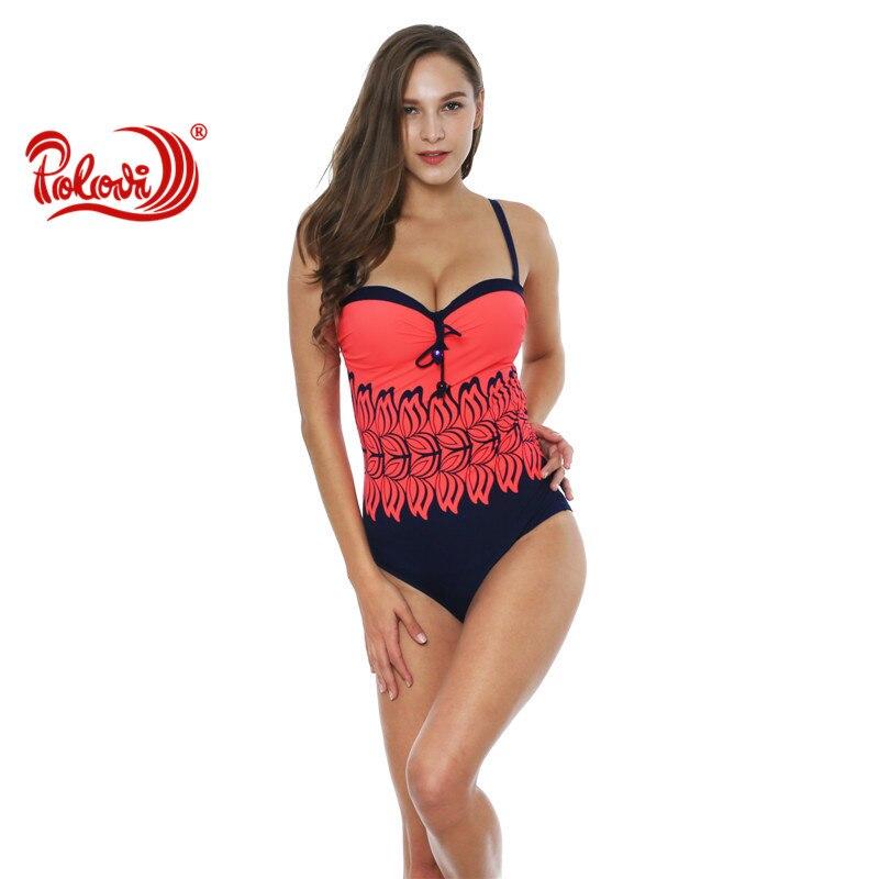 Polovi 2017 Backless swimwear one piece Swimsuit High Cut Out One Piece Swimsuit biquinis Women Beach wear bikini bathing suits fashionable strappy printed cut out one piece swimsuit for women