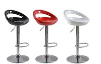 Модные барные стулья вращаются и поднимаются, ABS бар кресло блестящая металлическая основа, набор барной мебели, металлическая коммерческа
