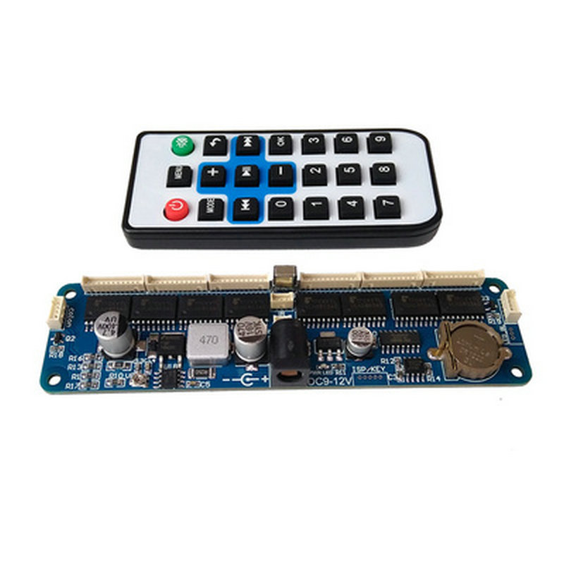 DIY in12 in14 in18 qs30-1 Tubo Nixie digitais LEVOU relógio de presente kit placa de circuito PCBA Sem tubos