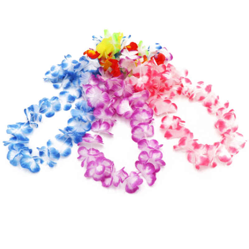 Искусственные декоративные цветы ожерелье пляжный танец гирлянды вечерние 48/60 шт Гавайский практичный, высококачественный