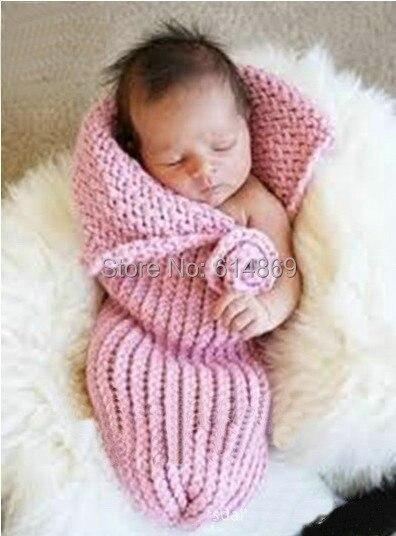 Freies verschiffen, neugeborenen Häkeln blumen schlafsack, baby kokon Sleep 0-6 monthes Fotografie Prop