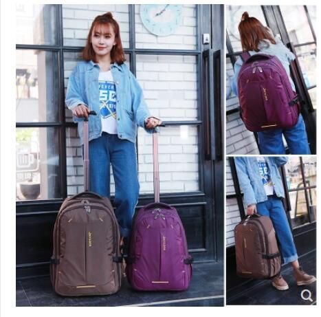 Rolling Backpack Women Trolley Backpack bag Travel  wheeled Luggage Bag Men Business bag luggage suitcase backpack on wheels