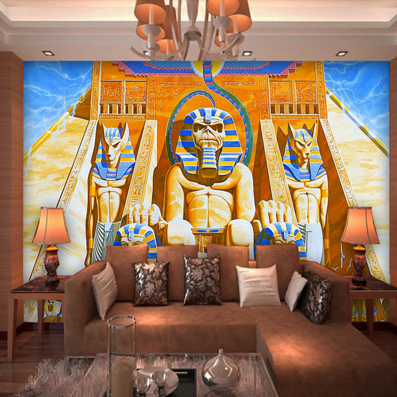 Custom Mural Wallpaper 3D Classic Art Oil Painting Ancient Egyptian Pharaoh Large Murals Living Room Sofa TV Photo Wall Paper 3D ancient egyptian design
