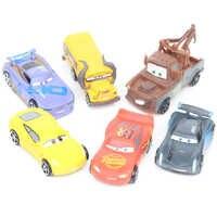 Disney Pixar Cars 3 6 pz/lotto 7 cm Figure Mini Action Pvc Figure Modello Bambole Classic Saetta Mcqueen Jackson Tempesta giocattoli Auto
