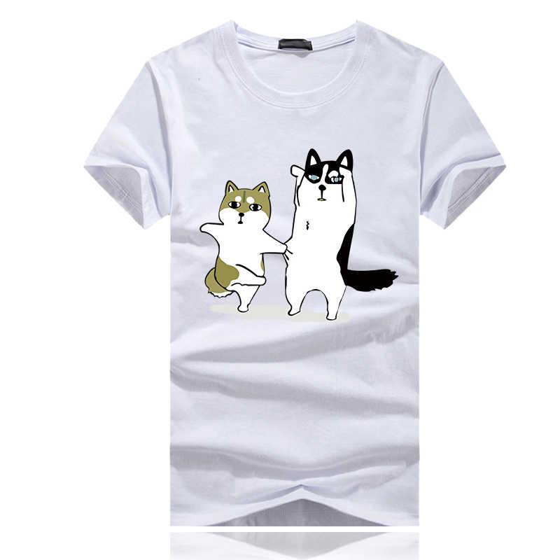 08032cfebf ... t shirt Funny Dog Printed Hipster t shirt homme man cotton Short Sleeve  Tops Black Male Streetwear camiseta masculina on Aliexpress.com