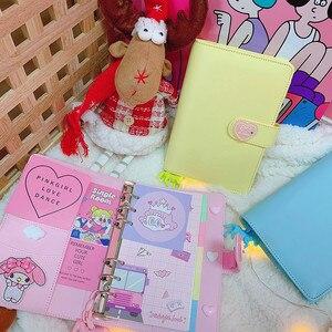 Image 3 - DIY Notebook Planer Kawaii 저널 소녀의 일기 주최자 다채로운 책 노트 학생 일일 주간 계획 편지지 선물