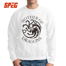 Game Of Thrones Mother Of Dragons Blusa Com Estampa Men Sweatshirt Crazy Pure Cotton Crew Neck Pullover Printed Hoodie Clothing water drop printed crew neck sweatshirt