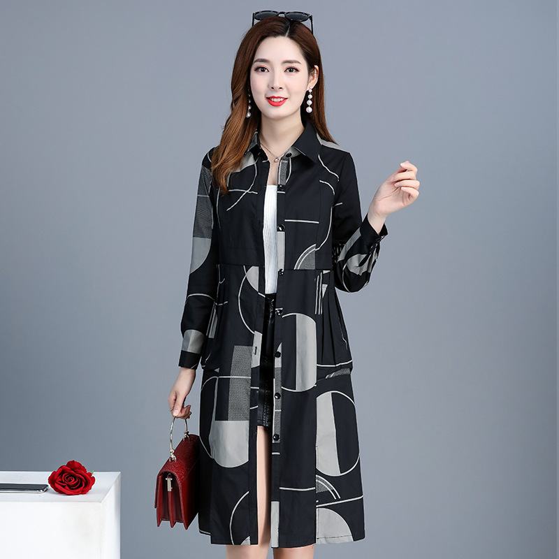 2019 Spring Autumn Ladies Windbreaker Korean Slim Lapel Single Breasted Casual Long   Trench   Coats For Women Overcoat N842