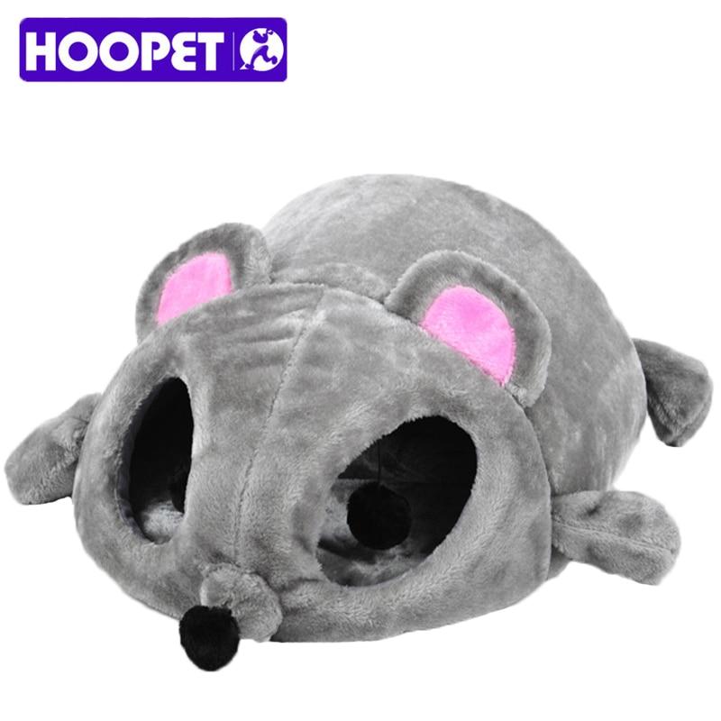 Hoopet Pet Cat Cave Bed Grey Mouse Shape Bed voor kleine katten - Producten voor huisdieren