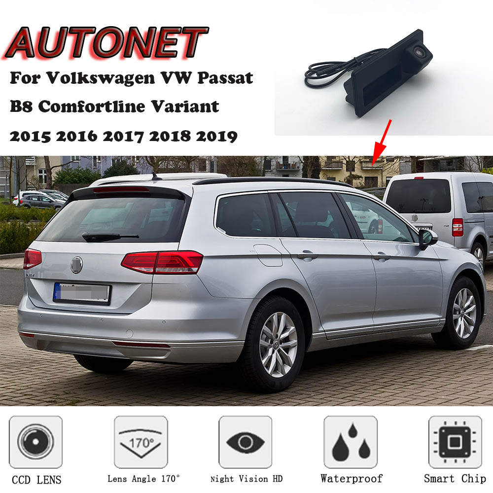 AUTONET CAR Trunk Handle Camera For Volkswagen VW Passat B8 Comfortline Variant 2015 2016 2017 2018 2019 Backup Rear View camera image