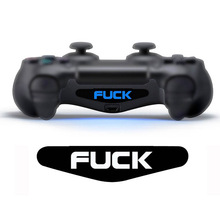 2 PCS Custom Game Light Bar Vinyl Stickers Decal Led Lightbar Protect Skin for Playstation 4 Dualshock 4 PS4 PRO Slim Controller
