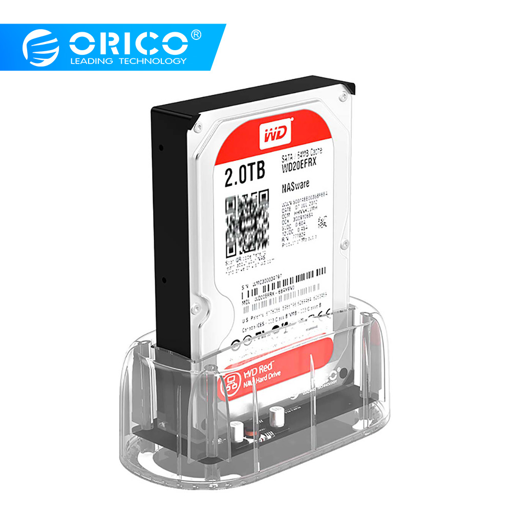 ORICO 3.5 Transparent HDD Enclosure USB 3.0 5Gbps to SATA3.0 HDD Docking Station UASP 8TB Drives for Notebook Desktop PCORICO 3.5 Transparent HDD Enclosure USB 3.0 5Gbps to SATA3.0 HDD Docking Station UASP 8TB Drives for Notebook Desktop PC