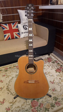 Finlay 41 Acoustic Guitars,Solid Cedar Top/Rosewood Body guitarra With Hard case,Fingerboard mosaic,FB-D520KC