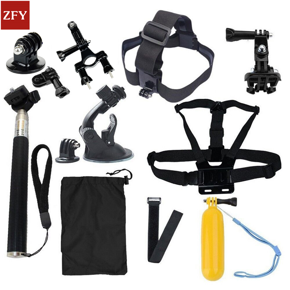 GoPro accessories 15 in 1 Family Kit Go Pro SJ4000 SJ5000 SJ6000 accessories set package for