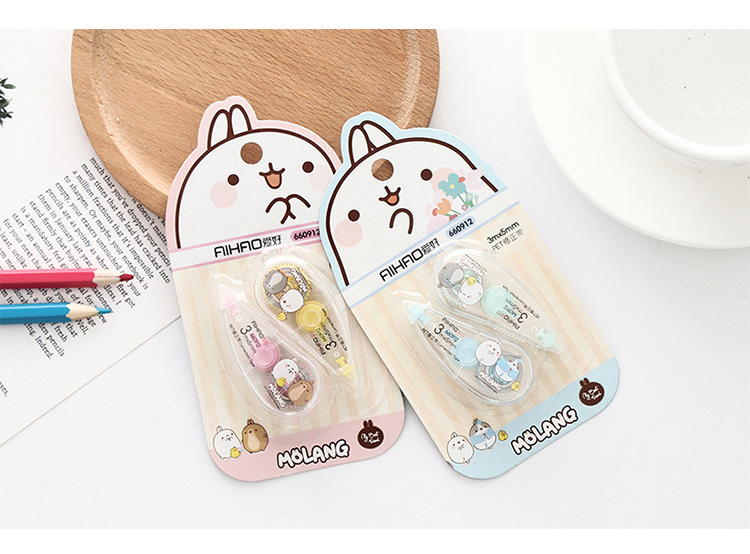 2pcs/lot Correction Tapes 3m*5mm Cartoon Churry Rabbit Correction Tape For  School Corrector Tools Stationery Office Supplies
