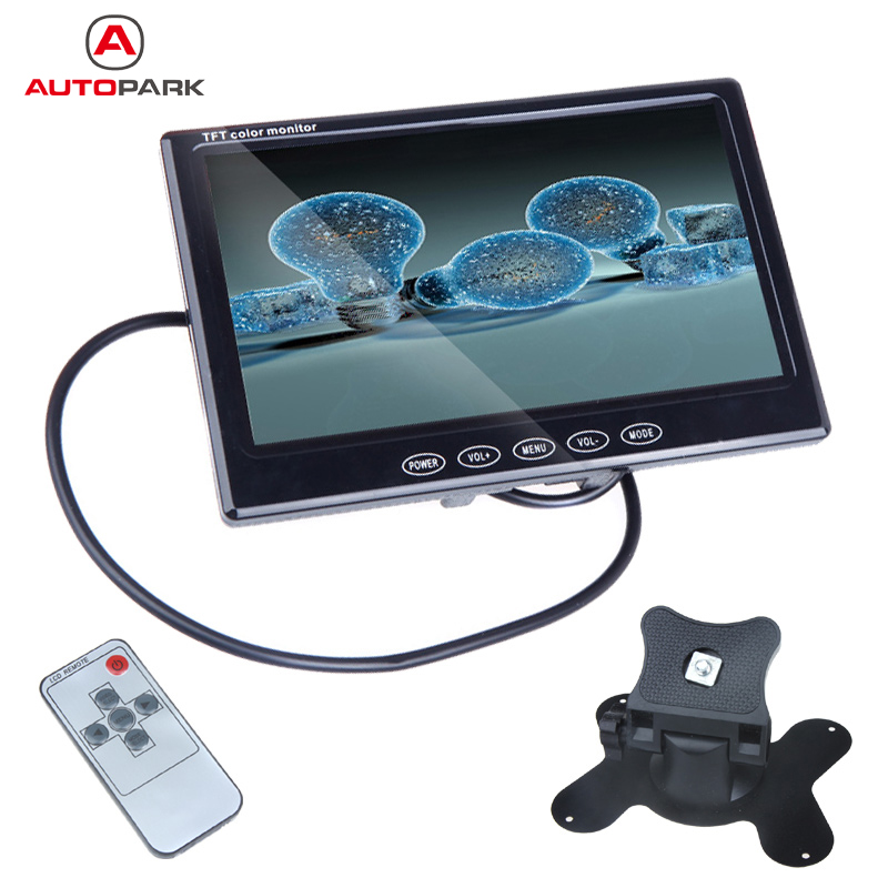 Car Monitor 7inch TFT LCD Color Rearview Monitor 2 Video Input for Reverse Camera DVD High