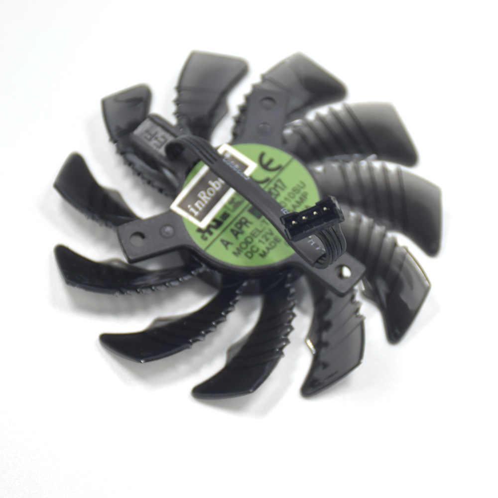 75mm T128010SU PLD08010S12H 4Pin Soğutucu Fan GeForce 960/970/980 GTX 1060 1070 1080 Ti Oyun radeon R9 Grafik Kartı Fanı