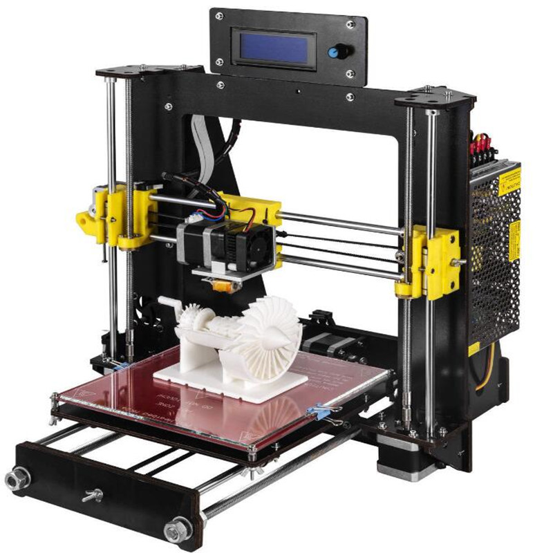 CTC 3D Printer 2018 Upgraded Full Quality High Precision Reprap Prusa i3 DIY 3D Printer MK8 LCD Unleash your imagination new anet e10 e12 3d printer diy kit aluminum frame multi language large printing size high precision reprap i3 with filament