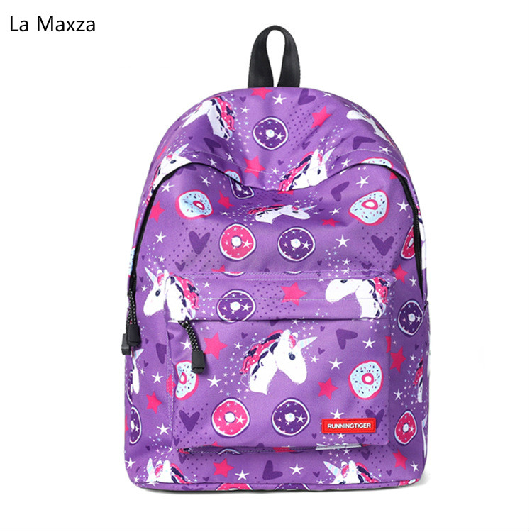 2018 New Cartoon Lighweight Primary and Middle School Students School Bag Womens Gril Large Capacity Book Laptop Bags Backpack