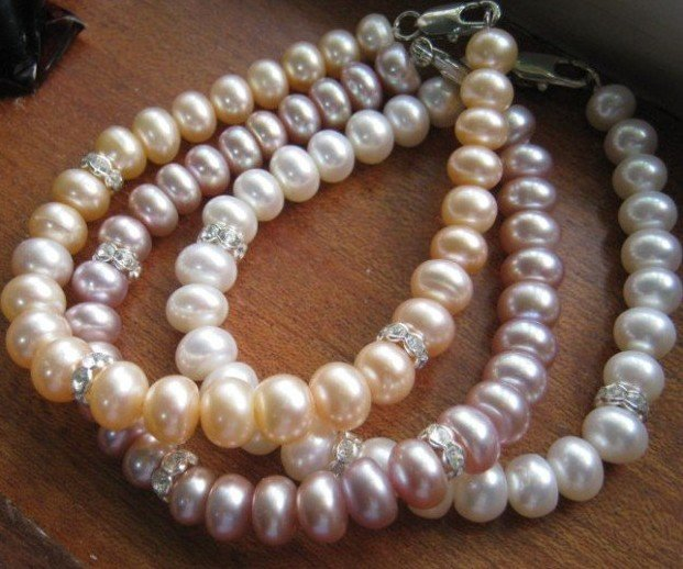 MIX COLOR! Nice Quality AAA Good Standard Pearl Bracelet, Natural Pearl Jewelry Wholesale, 30pcs/lot
