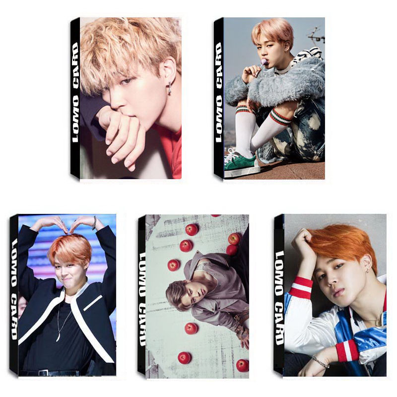 YANZIXG KPOP BTS Bangtan Boys Album JIMIN Self Made Paper Lomo Card Photo Card Poster HD Photocard Fans Gift Collection bts 4th bts 4th mini album pt 2 peach version blue version set 2ea lot photobook 98p 1photocard 2015 12 01 kpop album