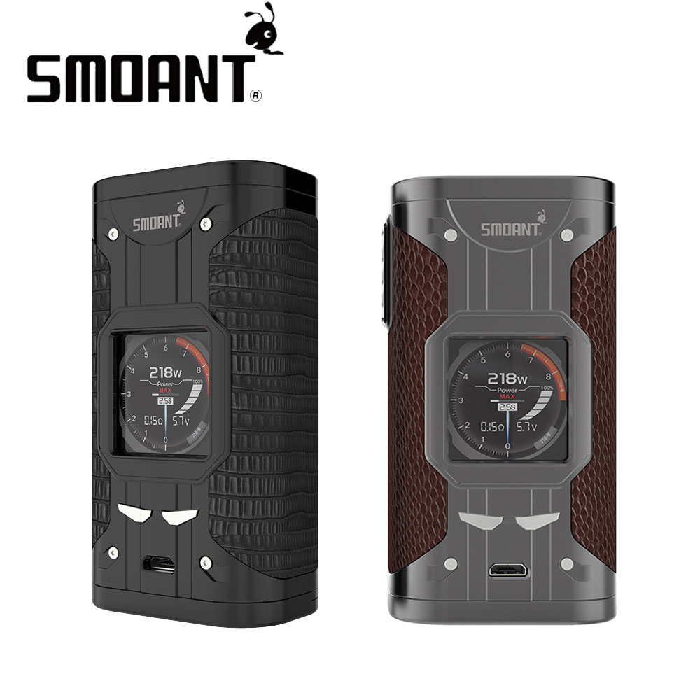 Original 218W Smoant Cylon TC MOD with Ant218 V2 Chipset Upgradable Firmware No Battery Cylon Box Mod For E-cigs Vape Vaporizer ruru15070 to 218