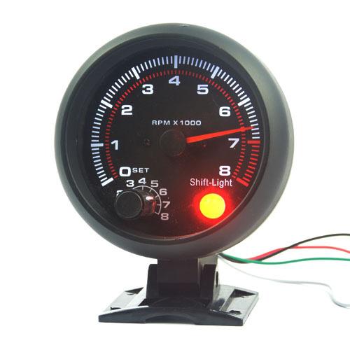 3.75 polegada ( 95.25 mm ) preto shell luz branca LED tacômetro indicador RPM f transporte ree
