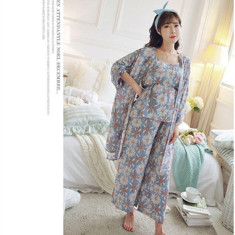 07254df1b 1715  3 piezas conjuntos de moda de verano maternidad lactancia pijamas  algodón lactancia pijamas para mujeres embarazadas embarazo ropa en Para  dormir y ...