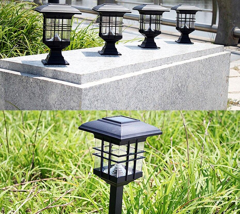 2 pçs lote lâmpadas solares led para