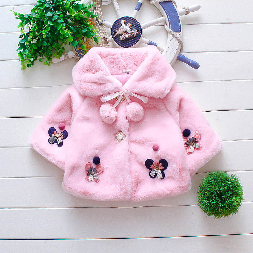 Winter Coat Cloak Jacket Girls Baby Kids Children Dinosaur Warm Autumn Cute Infant Thick