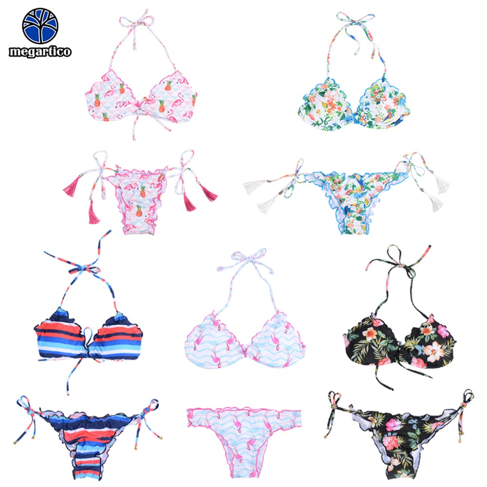 <font><b>Bikini</b></font> 2019 <font><b>xl</b></font> swimming suit for women <font><b>sexy</b></font> string lady swimsuit <font><b>bikini</b></font> set brazilian <font><b>sexy</b></font> bandeau swim flower flamingo image