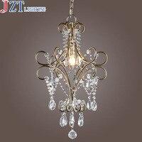 Американский Сельский ретро железа кристалл подвесной светильник 3 * E14 Макс шарики Dia45cm * Высота 53 см Спальня проход крыльцо небольшой ресто