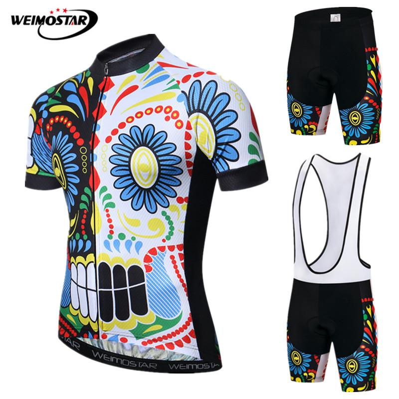 Weimostar Pro Skull Cycling Clothing Summer Short Cycling Jersey Set Men MTB Bicycle Clothing Quick Dry Bicycle Jersey Suit RopaWeimostar Pro Skull Cycling Clothing Summer Short Cycling Jersey Set Men MTB Bicycle Clothing Quick Dry Bicycle Jersey Suit Ropa