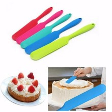 1PC Silicone Spatula Cream Baking Mixing Butter Scraper Brush Cake Smoother Polisher Fondant Decor