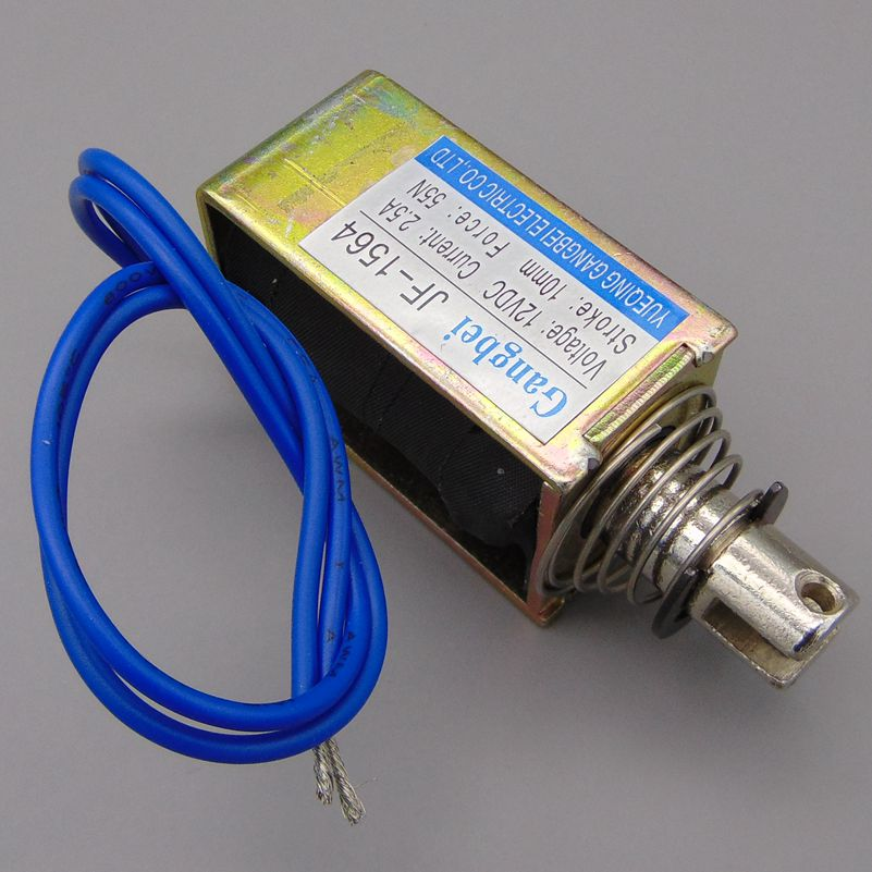 цена на gangbei-1564B Wholesale DC 12V 24V 2.5A Force 55N travel 10mm Pull Type Linear Solenoid Electromagnet