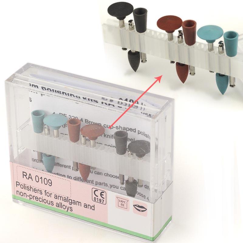9pcs/set Teeth Whitening Silicone Polisher Diamond Burs Cups Assorted Oral Hygiene Teeth Polishing Kits Tools