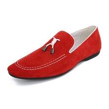 Italian Fashion Men Shoes DYANMIC Latest Designs Men's Genuine Leather Red/Purple/Gray/Black/Brown Flat Sapatos Masculinos