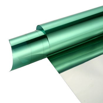 """60""""x200ft One Way Silver Green Window Film Self Adhesive High Reflective Window Tint Solar Film Privacy Protection Solar Film"""