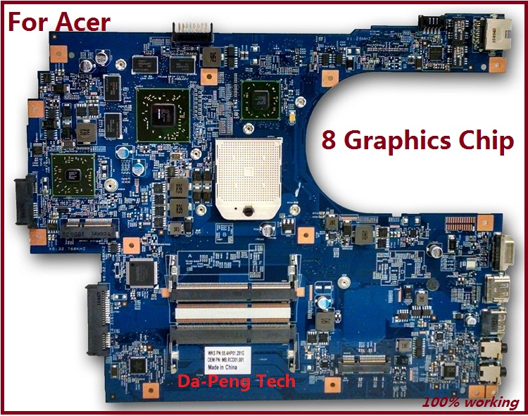 KEFU High quanlity Laptop Motherboard For Acer 7551 7551G 8 Video memory 48.4HP01.011 Motherboard-in Motherboards from Computer & Office    1