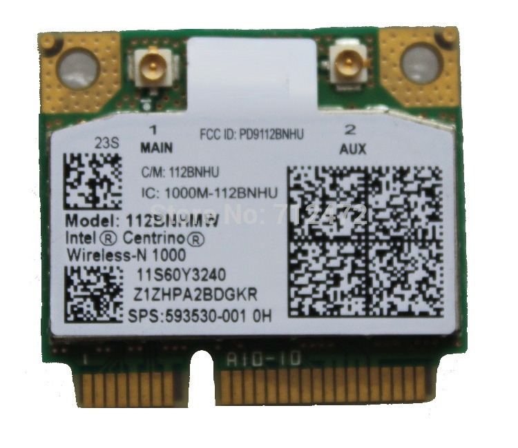 Nuova scheda wireless SSEA per HP per Intel Centrino Wireless-N 1000 112BNHMW 300 Mbps 802.11 b / g / n Mini PCI-E SPS: 593530-001